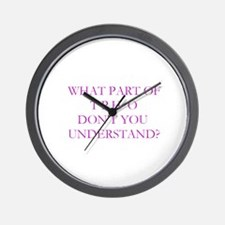 What part of no ...Wall Clock