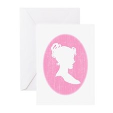 Pink Cameo Greeting Cards (Pk of 10)