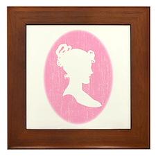 Pink Cameo Framed Tile