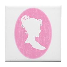 Pink Cameo Tile Coaster