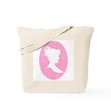 Pink Cameo Tote Bag