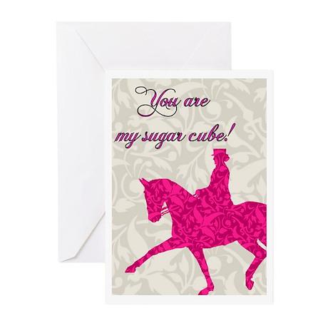 Dressage Horse Valentine's Card Pink (Pk of 10)
