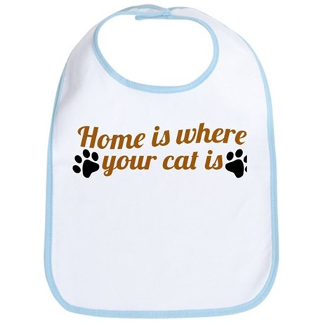 Home is where your cat is Bib