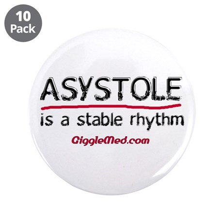 "Asystole 2 3.5"" Button (10 pack)"