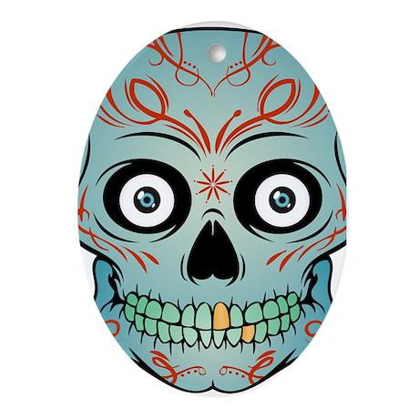 Tattoo Skull Ornament (Oval)