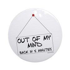 Out of Mind Ornament (Round)