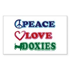 Peace Love Doxies/Dachshund Decal