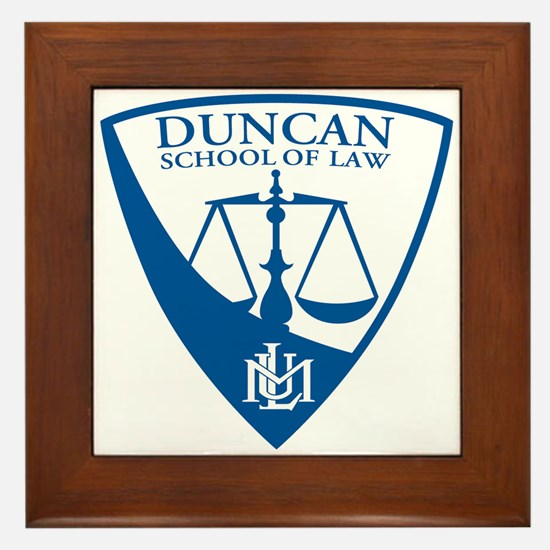 Duncan School of Law Framed Tile