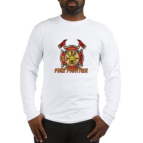 Maltese Cross - Fire Fighter Long Sleeve T-Shirt