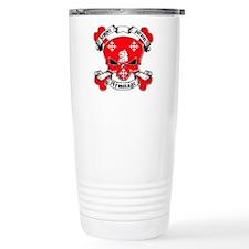 Armitage Family Crest Skull Travel Mug