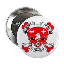 "Armitage Family Crest Skull 2.25"" Button"