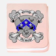 Armour Family Crest Skull baby blanket