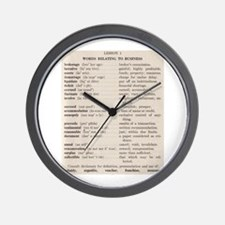 Business Speak Lesson 1 Wall Clock