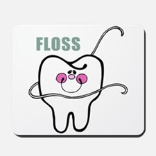 Dental Floss Humor Mousepad