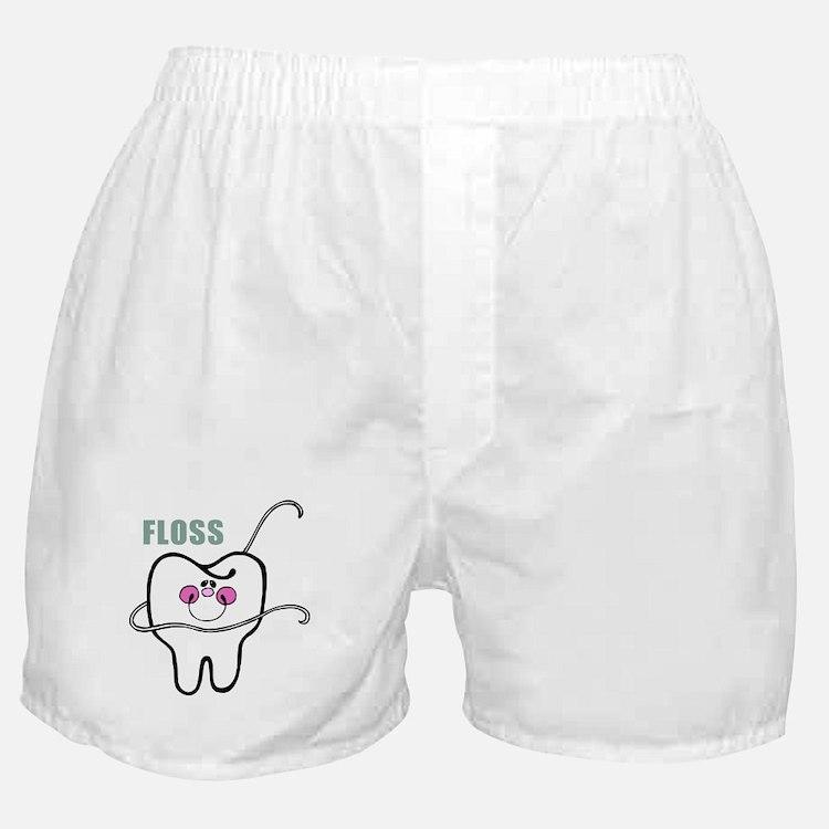 Dental Floss Humor Boxer Shorts