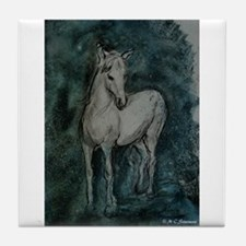 Horse, Grey-Tones, Tile Coaster