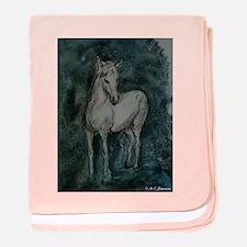 Horse, Grey-Tones, baby blanket