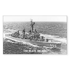 USS BLACK Decal