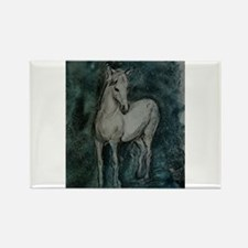 Horse, Grey-Tones, Rectangle Magnet