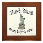F You Framed Tile