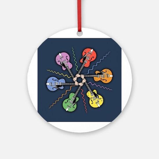 Guitar Color Wheel Ornament (Round)