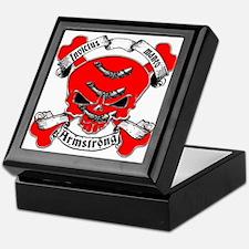 Armstrong Family Crest Skull Keepsake Box