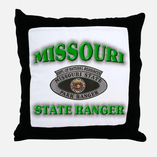Missouri Park Ranger Throw Pillow