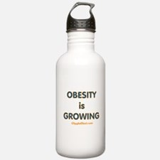 Obesity is Growing Water Bottle