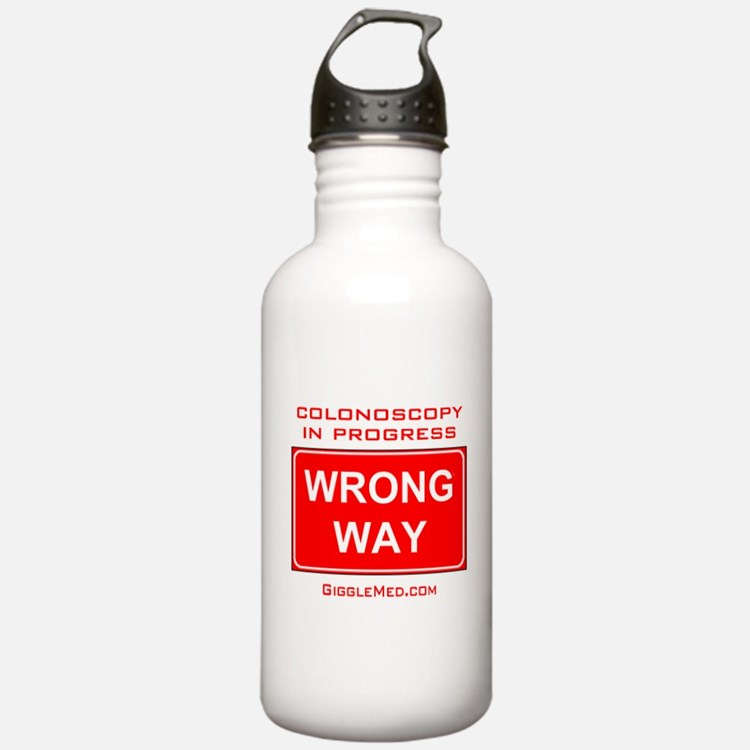 Colonoscopy Wrong Way Water Bottle