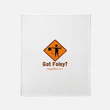 Foley Flagger Sign Throw Blanket