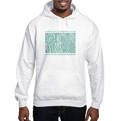 Cat in Tall Grass hooded sweatshirt