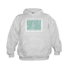 Cat in Tall Grass kids hoodie