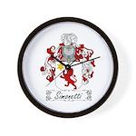 Simonetti Coat of Arms Wall Clock