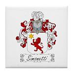 Simonetti Coat of Arms Tile Coaster