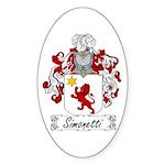 Simonetti Coat of Arms Oval Sticker