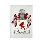 Simonetti Coat of Arms Rectangle Magnet (100 pack)