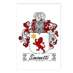 Simonetti Coat of Arms Postcards (Package of 8)