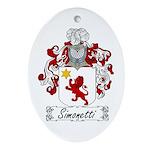 Simonetti Coat of Arms Oval Ornament