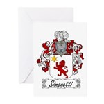 Simonetti Coat of Arms Greeting Cards (Package of
