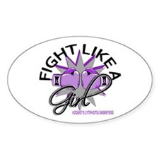 Licensed Fight Like A Girl 12.3 H L Decal