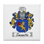 Simonetta Family Crest Tile Coaster