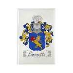 Simonetta Family Crest Rectangle Magnet (100 pack)