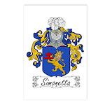 Simonetta Family Crest Postcards (Package of 8)