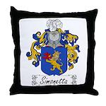 Simonetta Family Crest Throw Pillow