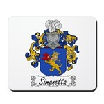Simonetta Family Crest Mousepad