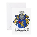 Simonetta Family Crest Greeting Cards (Package of