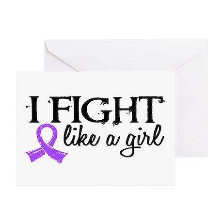 Fight Like A Girl Hodgkin's Lymphoma Greeting Card