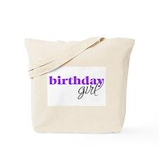 Birthday Girl - purple Tote Bag