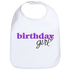 Birthday Girl - purple Bib
