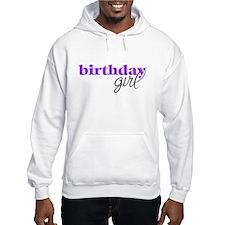 Birthday Girl - purple Jumper Hoody